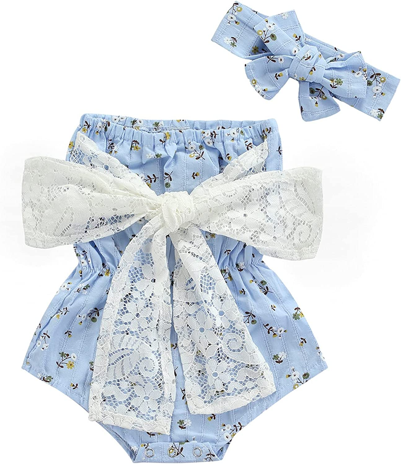 Over item handling ☆ 2PC Newborn Baby Girls Clothes Romper OFFicial mail order Striped Playsuit Jumpsuit