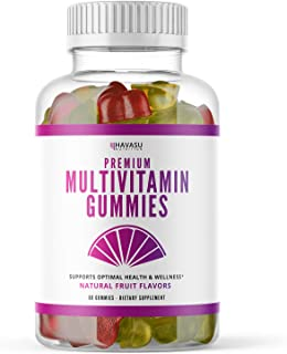 Havasu Nutrition Multivitamin Gummies for Men and Women with Vitamin A, C, D3, E, B6, B12, and Zinc, 60 Count (60 Count, A...