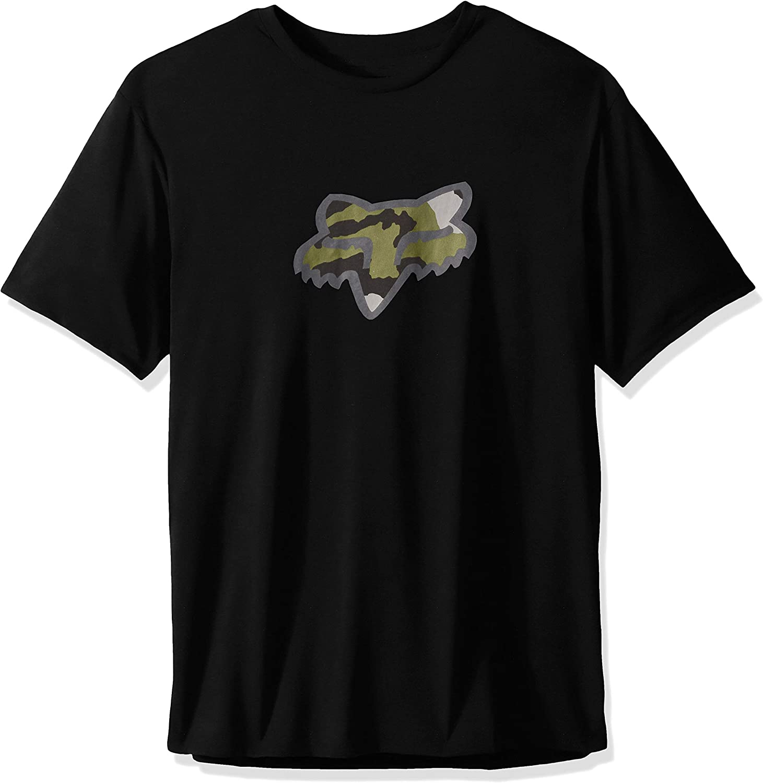 Fox Racing Mens Fox Head Men's Tech T-Shirt, S, Black, Small