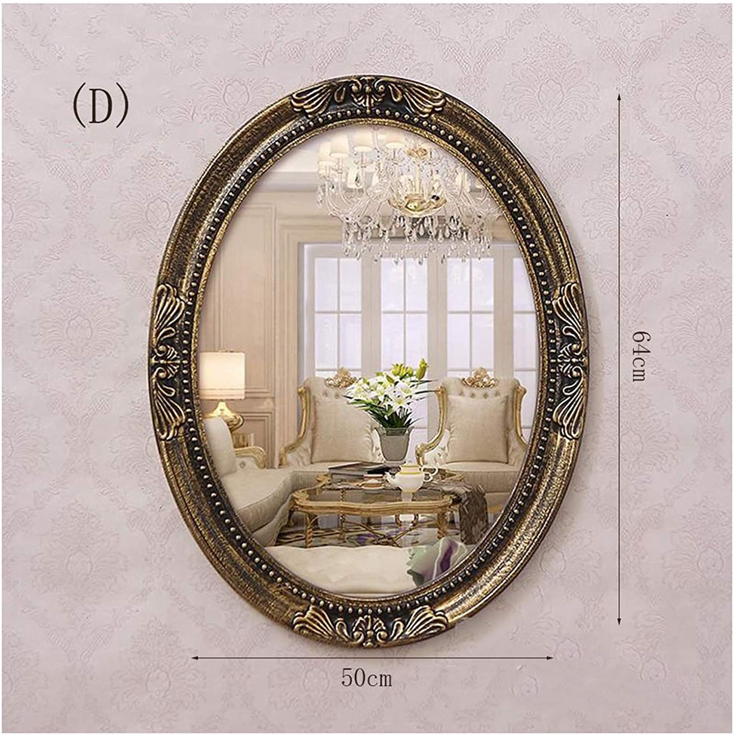 YYF French Retro Living Room Bathroom Wall Hanging Decorative Mirror 58cm20cm (20 inches  23 inches) (Size   D)