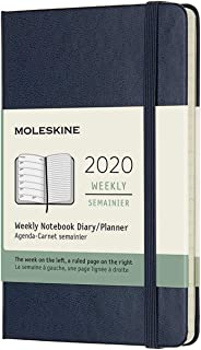 Moleskine Classic 12 Month 2020 Weekly Planner, Hard Cover, Pocket (3.5