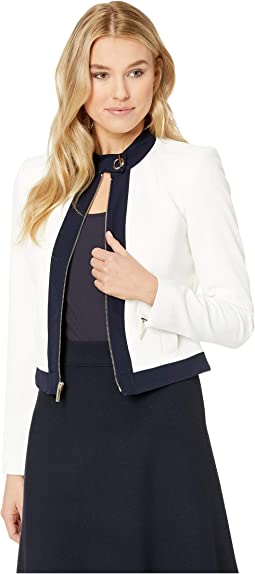Piped Textured Jacket