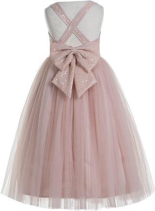3efb2aabc493 ekidsbridal Crossed Straps A-Line Flower Girl Dresses Junior Bridesmaid  Dress Formal Dresses 177