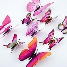 LUTER 24 Stks 3d Vlinder Muurstickers 4 Maten Vlinder Muurstickers Verwijderbare Muurschildering Muurstickers Art Decor Vo...