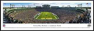 Green Bay Packers - End Zone at Lambeau Field - Panoramic Print