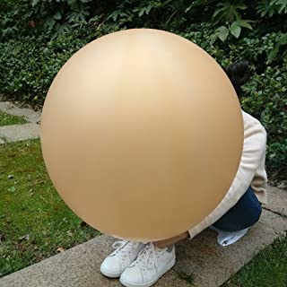 GuassLee 5 Giant Balloon 36 Inch Round Latex Big Balloon Large Thick Balloons for Photo Shoot/Birthday/Wedding Party/Festival/Event/Carnival Decorations Gold