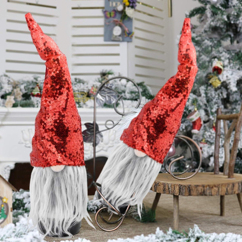 con Nariz y Bigote Accesorios de Fiesta Funda de Botella de Vino Decoraci/ón para Mesa para Navidad 39 * 14cm Demason 2 Pcs Sombrero Rojo para Botella de Vino Navidad