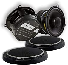 """CT Sounds 5.25 Inch Car Audio Coaxial Speakers Set - Pair, Full Range , Easy Mounting, 4 ohm 1.4"""" Voice Coil, 30Watts Rms/... photo"""