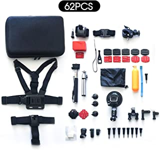 OZSTOCK Gopro Accessories Kit 62in1 Hero 6/5/4/3+/3/2 Pack Case Chest Head Monopod