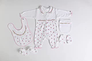 New Born BodySuit Set For Girls cotton