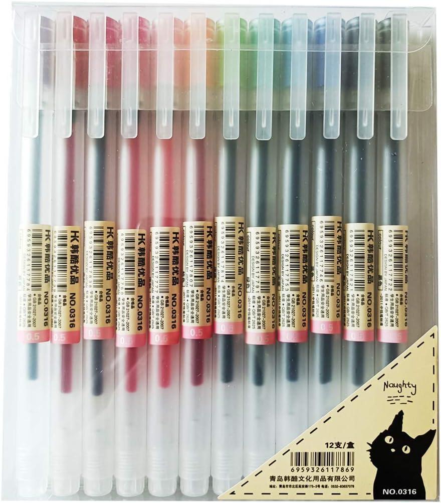 Sencoo 12 pack Max 48% OFF Premium Gel Ink Ballpoint Point Pens Ranking TOP16 Pen Fine