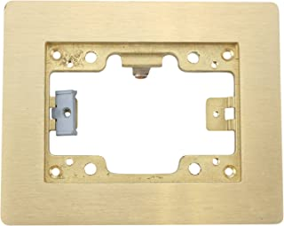 Hubbell Wiring Systems SB3083W Brass 1-Gang Floor Box Rectangular Flat Flange, 4-24/32