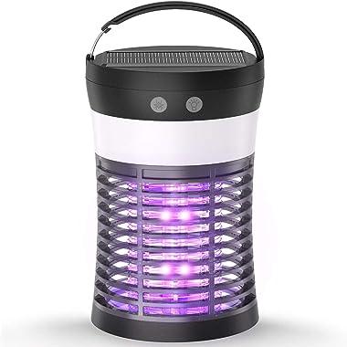 Mosquito Killer Lamp, ViViLarm Rechargeable Solar & USB Powered Bug Zapper, IP66 Waterproof Hanging Camping Lantern, Port