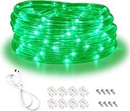 Green Rope Lights,16ft Waterproof, Connectable and Flexible LED Strip Lights with Advanced LEDs and Crystal-Clear Thick PVC Jacket, High Brightness, Great for Deck Pergola Handrail Bedroom
