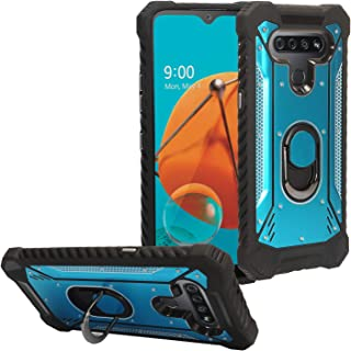 CELZEN - for LG K51, LG Reflect (LM-K500) - Aluminum Metal Hybrid Phone Case w/Stand - ZY0 Blue