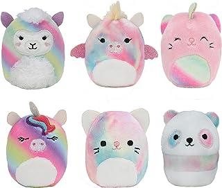 "Squishville by Squishmallow Mystery Mini Plush Rainbow Dream Squad, Six 2"" Soft Mini-Squishmallow Rainbow Animals, Irresis..."