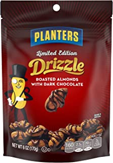 Planters Dark Chocolate Drizzle Almond 6 Ounce Resealable Single Pack