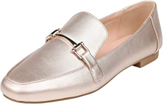 Feversole Women's Fashion Trim Deco Loafer Slippers