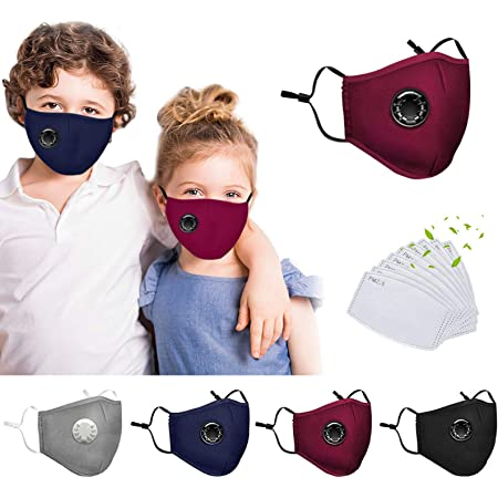 Padaleks Breathable Washable Reusable Bandanas for Child Kids Boys Girls Outdoor Dustproof Face Guard with Eyes Shield
