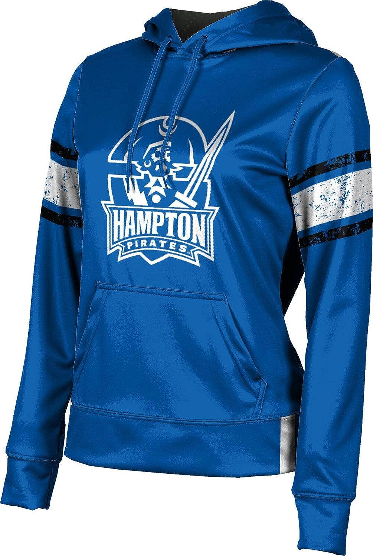 Hampton University Girls' Pullover Hoodie, School Spirit Sweatshirt (End Zone)
