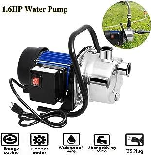 Voluker 1.6HP Stainless Steel Lawn Sprinkling Pump Booster Pump Shallow Well Pump For Garden Water Transport (1.6HP Booster Pump)