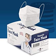 MADE IN USA - Disposable Face Masks - 3-ply - 50ct - Adjustable Fit