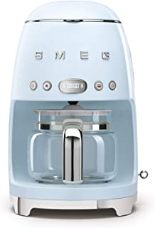 Smeg 50's Retro Style Aesthetic Drip Filter Coffee Machine, 10 cups, Pastel Blue