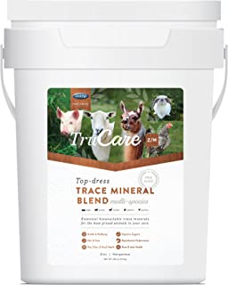 TruCare Z/M Top-Dress Trace Mineral Blend for Multi-Species: Pigs, Sheep, Llamas, Rabbits, Poultry (Zinc, Manganese) 10 KG Pail