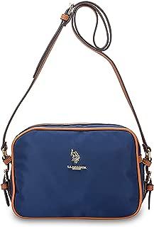 US Polo Assn. Womens Houston Crossbody Cross Body Shoulder Handbag Casual Fashion Bag Nylon - Navy