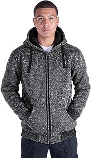 Heavyweight Sherpa Lined Full Zip Up Camo Fleece Hoodie for Men Winter Grey Blue Green Mens Sweatshirts Jacket