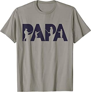 Fisherman Papa T-Shirt Funny Fisher Dad Fishing Father Gift