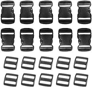 Aweisile Juego de 12 hebillas de metal braces hebilla abrazadera hebillas con cierre deslizante rectangular y botones de metal para correas bolsas de mano chaquetas monos 38mm