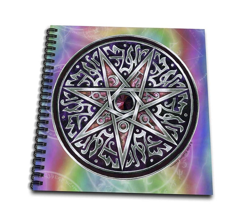 3dRose db_156824_1 Star of Fey Pagan Wiccan Magickal Sigil Art-Drawing Book, 8 by 8-Inch