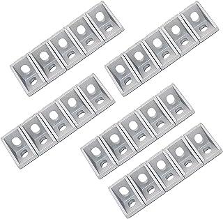 25PCS 2 Hole Corner Bracket Right Angle 20Series Aluminum Brackets for Aluminum Extrusion Profile with Slot 6mm