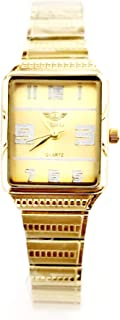Adimax watch Dress For Women - Analog-quartz- Stainless Steel Band-gold dial -sl810