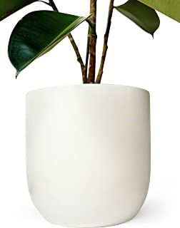 12 Inch White Planter Pot - Large Ceramic
