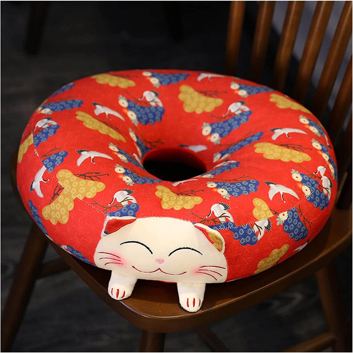 IHIO Creative Lucky Cat Plush Square Excellence Shape Pillow trust Round Pill