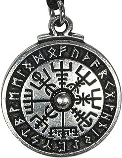 Pewter Viking Compass Rune Stave Pendant