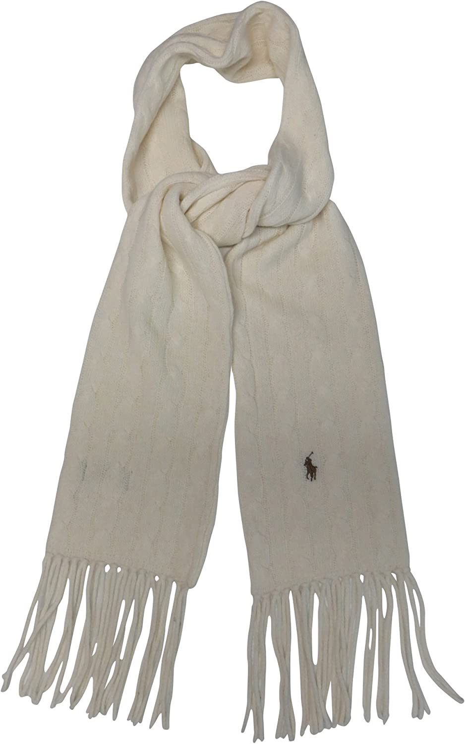 Ralph Lauren Womens Wool Blend Winter Scarf Guide Cream