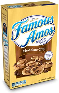 Famous Amos Cookies, Bite Size Chocolate Chip, 12.4 oz Box