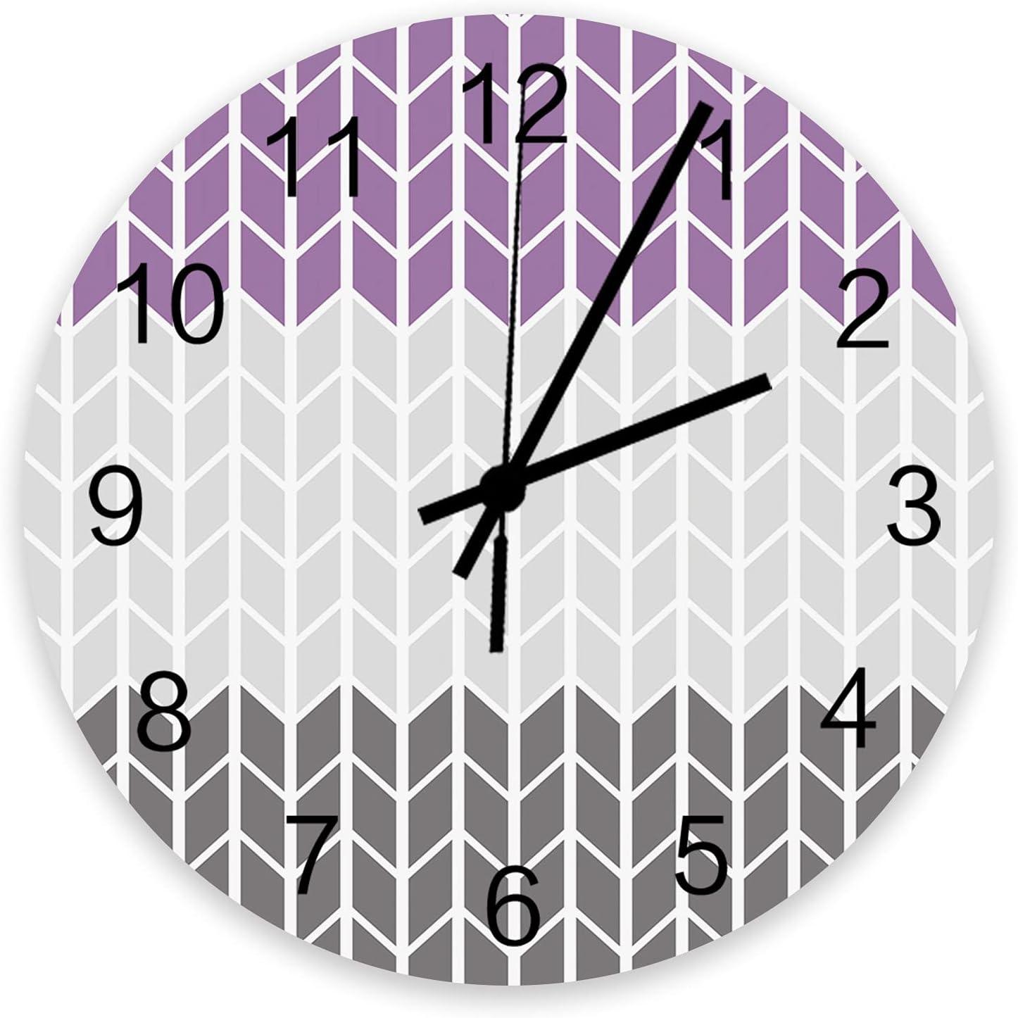 Roses Garden 12 Inch Wooden Wall Limited price sale Clock Geometric shipfree Modern Zig Zag