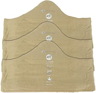 Soft Bamboo and Cotton Bra Liner (Beige, 3-Pack, XL) - No Tags and No Discomfort