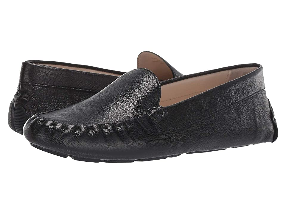 Cole Haan Evelyn Driver (Black Leather) Women