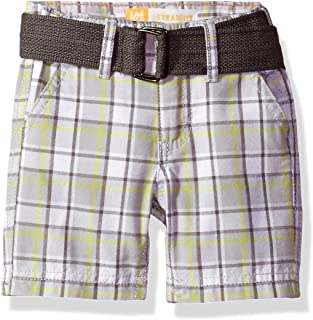 Lee Toddler Boys' Belted Plaid Woven Short