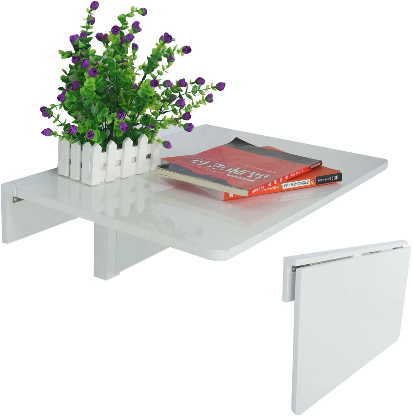 LiRen-Shop Wall-Mounted Folding Table Max Max 50% OFF 85% OFF Drop-Leaf Comput Floating