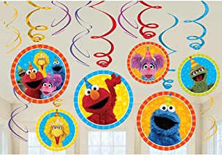Sesame Street Elmo Dangling Swirl Decorations Birthday Party Supplies Favor Pack by Disney