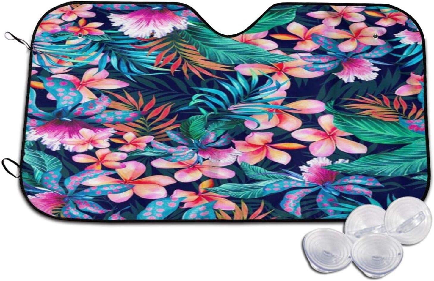 Neon Tropical San Francisco Mall Hawaiian Flowers 2 Windshield Sunshade Ranking TOP14 Car Winds