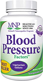 Michael's Naturopathic Programs Blood Pressure Factors - 90 Vegetarian Tablets - Fluid Balance Support, Nourishes Cardiova...