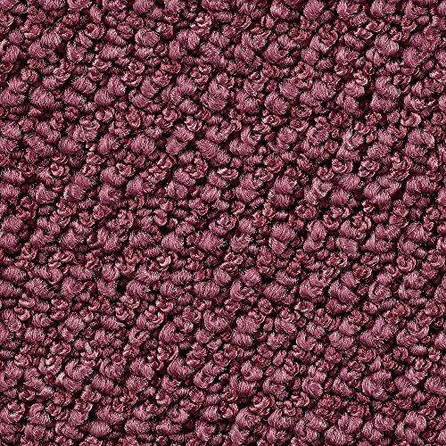 Teppichboden Auslegware | Schlinge gemustert | 400 und 500 cm Breite | lila rosa | Meterware, verschiedene Größen | Größe: 9,5 x 4 m
