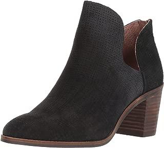 Lucky Brand Women's Powe Ankle Boot, Black, 5.5 Medium US